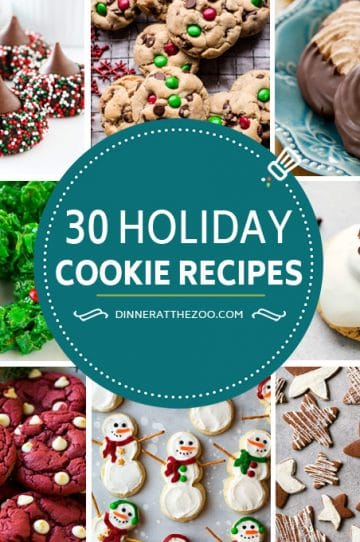 A collection of holiday cookie recipes including no bake cookies, chocolate cookies, Christmas cookies, snowman cookies and other sweet treats. These cookie recipes are perfect for cookie exchanges, gift giving and parties.
