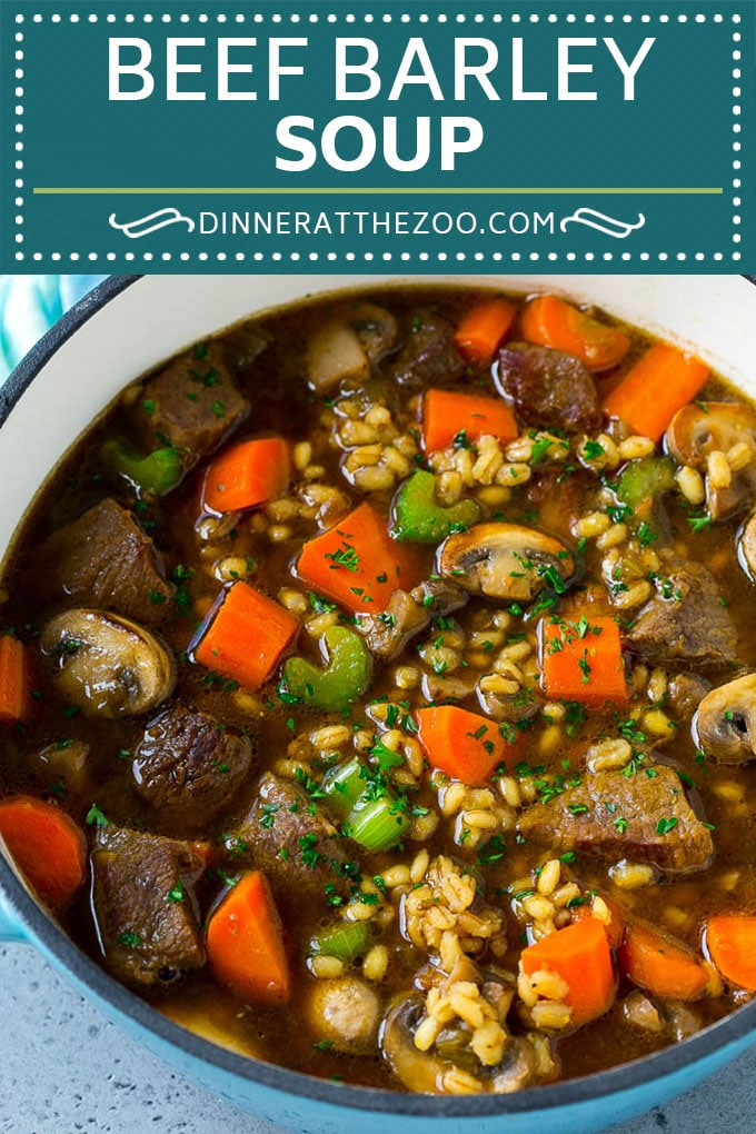 Beef Barley Soup Recipe | Beef Soup | Barley Soup #soup #beef #dinner #vegetables #dinneratthezoo #comfortfood