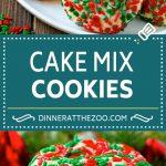 Cake Mix Cookies Recipe | Sprinkle Cookies | Christmas Cookies #cookies #christmas #sprinkles #dessert #baking #dinneratthezoo