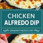 Chicken Alfredo Dip Recipe | Chicken Dip | Cheese Dip #dip #appetizer #chicken #cheese #dinneratthezoo