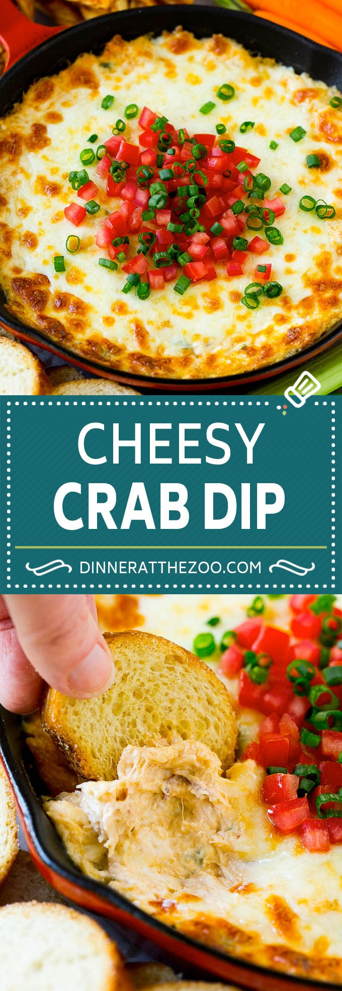 Crab Dip Recipe | Hot Crab Dip | Seafood Dip #dip #crab #seafood #appetizer #dinneratthezoo #cheese