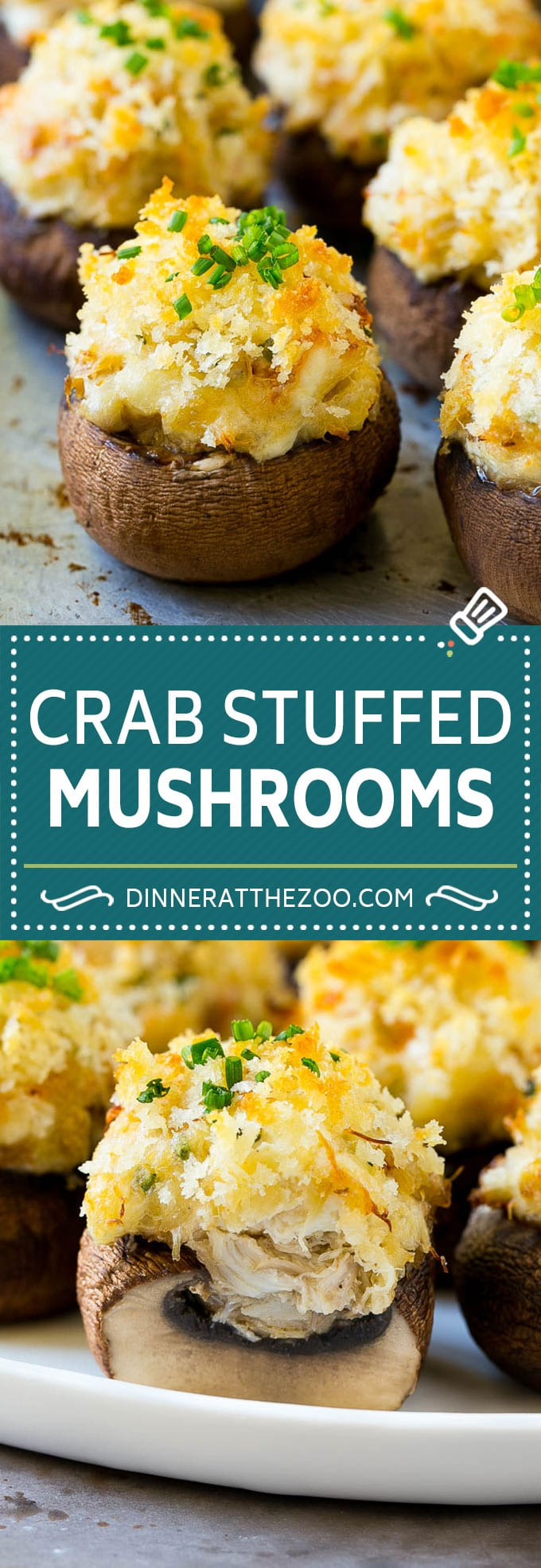 Crab Stuffed Mushrooms Recipe | Stuffed Mushrooms | Mushroom Appetizer #crab #seafood #mushrooms #lowcarb #appetizer #dinneratthezoo