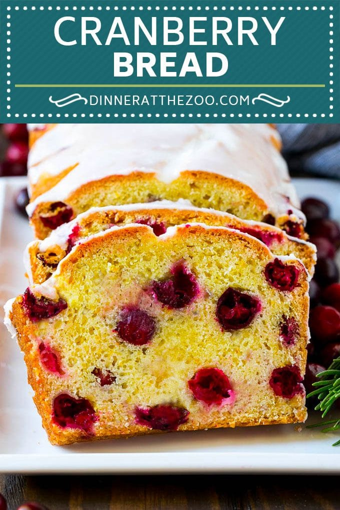 Cranberry Bread Recipe | Cranberry Loaf | Cranberry Orange Bread #cranberry #bread #baking #dessert #fall #dinneratthezoo
