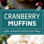 Cranberry Muffins Recipe   Cranberry Orange Muffins #cranberry #muffins #orange #fall #dessert #dinneratthezoo