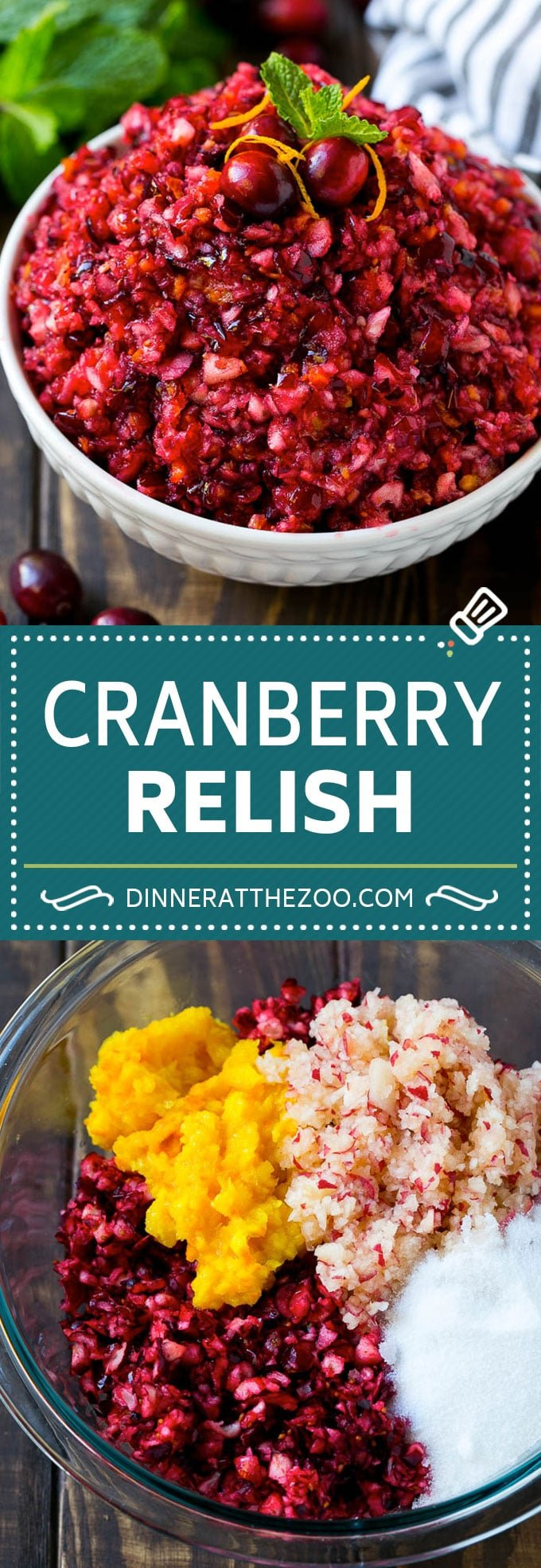 Cranberry Relish Recipe | Cranberry Sauce | Raw Cranberry Relish #cranberry #relish #sauce #thanksgiving #fall #dinner #dinneratthezoo