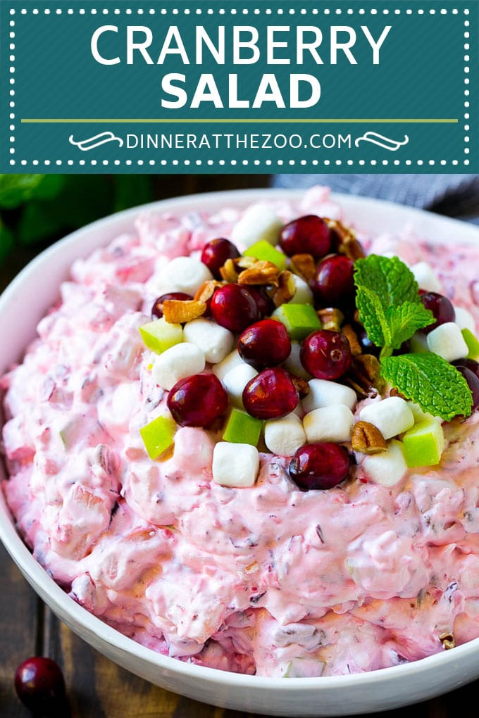 Cranberry Salad Recipe | Fluff Salad #cranberry #salad #fall #dinner #dinneratthezoo #thanksgiving