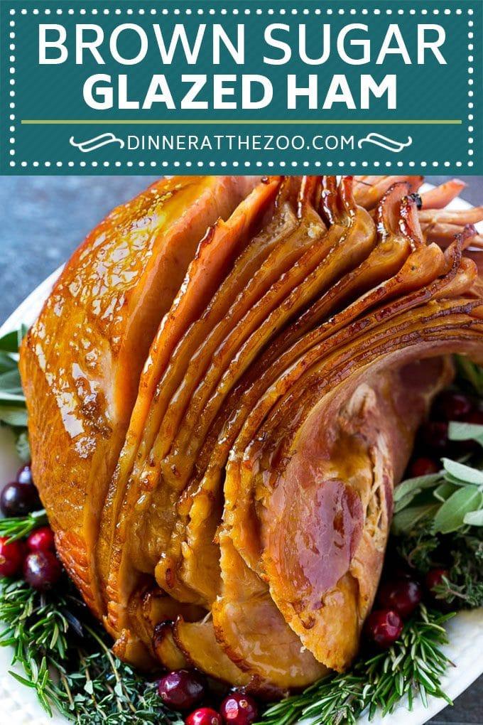 Brown Sugar Glazed Ham Recipe | Holiday Ham | Ham Glaze | Christmas Ham #christmas #thanksgiving #easter #ham #dinner #dinneratthezoo