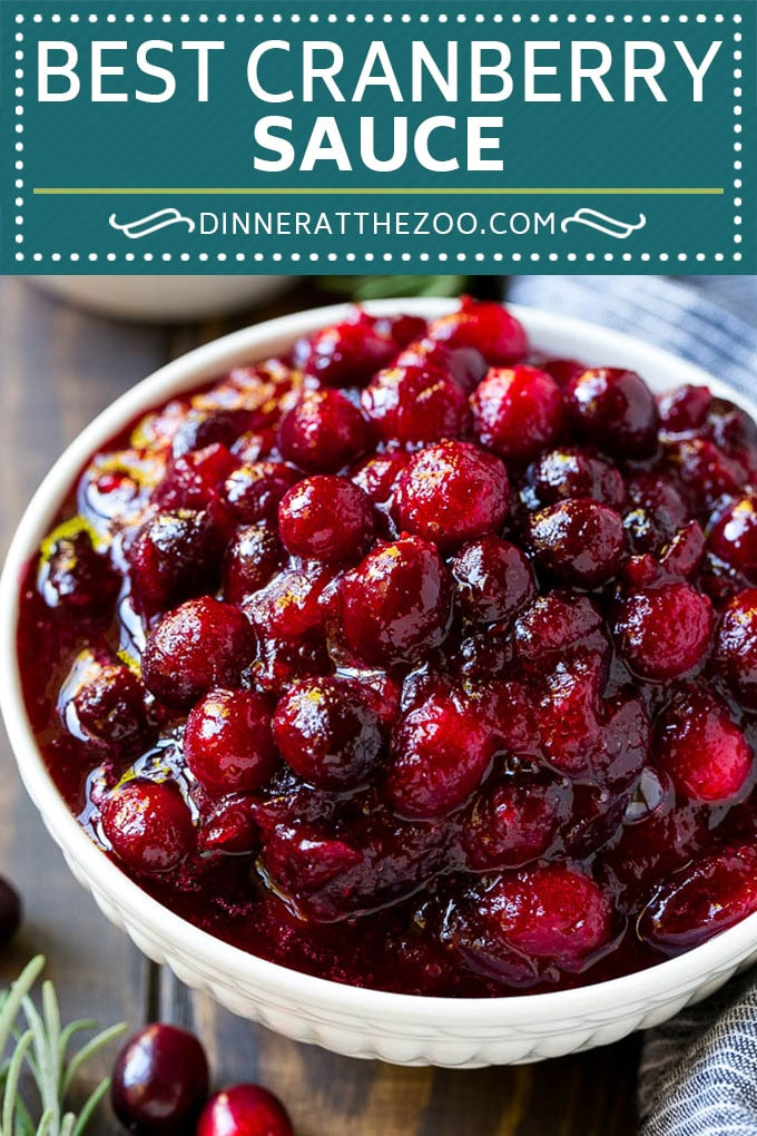 Homemade Cranberry Sauce Recipe | Easy Cranberry Sauce | Classic Cranberry Sauce #fall #thanksgiving #christmas #cranberry #dinner #dinneratthezoo