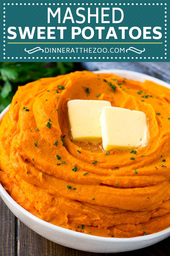 These mashed sweet potatoes are ultra creamy and are the perfect accompaniment to chicken, meats and fish.