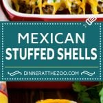 Mexican Stuffed Shells Recipe | Stuffed Shells | Mexican Pasta #dinner #pasta #mexican #beef #noodles #cheese #dinneratthezoo