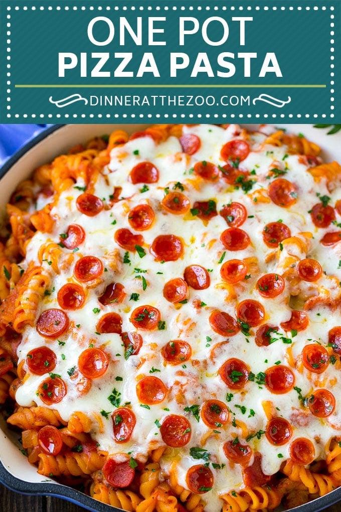 Pizza Pasta Recipe | Pepperoni Pasta | Sausage Pasta #italian #pepperoni #sausage #pizza #pasta #dinner #dinneratthezoo #onepot