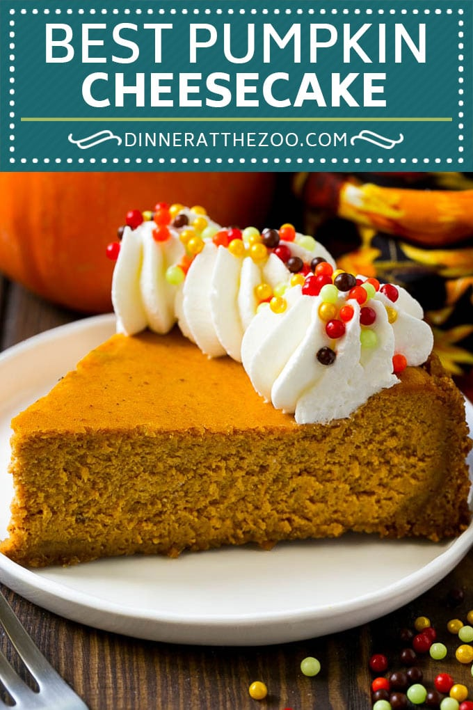 Pumpkin Cheesecake Recipe | Pumpkin Pie Cheesecake | Pumpkin Dessert #pumpkin #thanksgiving #dessert #cheesecake #fall #dinneratthezoo