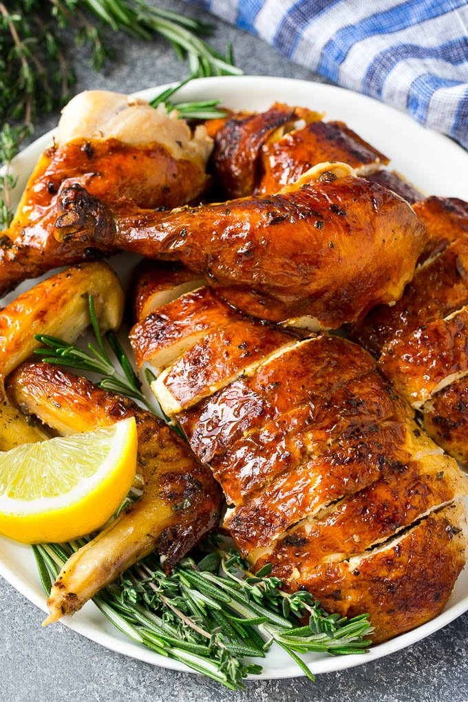 Roasted Chicken With Garlic And Herbs Dinner At The Zoo
