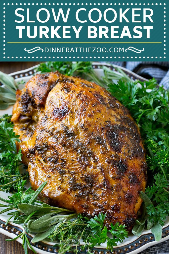 Slow Cooker Turkey Breast Recipe | Crock Pot Turkey Breast | Turkey Breast | Thanksgiving Turkey #turkey #slowcooker #crockpot #thanksgiving #glutenfree #dinner #dinneratthezoo