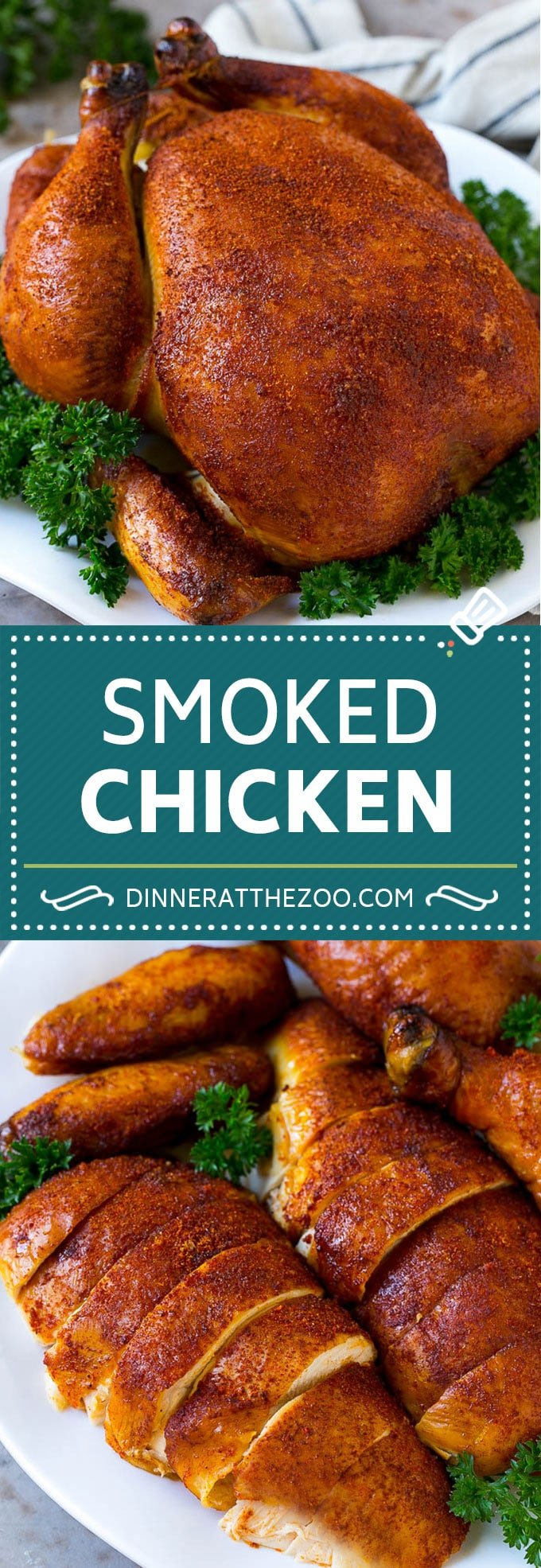 Smoked Chicken Recipe | Whole Smoked Chicken | BBQ Chicken #chicken #smoker #BBQ #dinner #dinneratthezoo #glutenfree #lowcarb