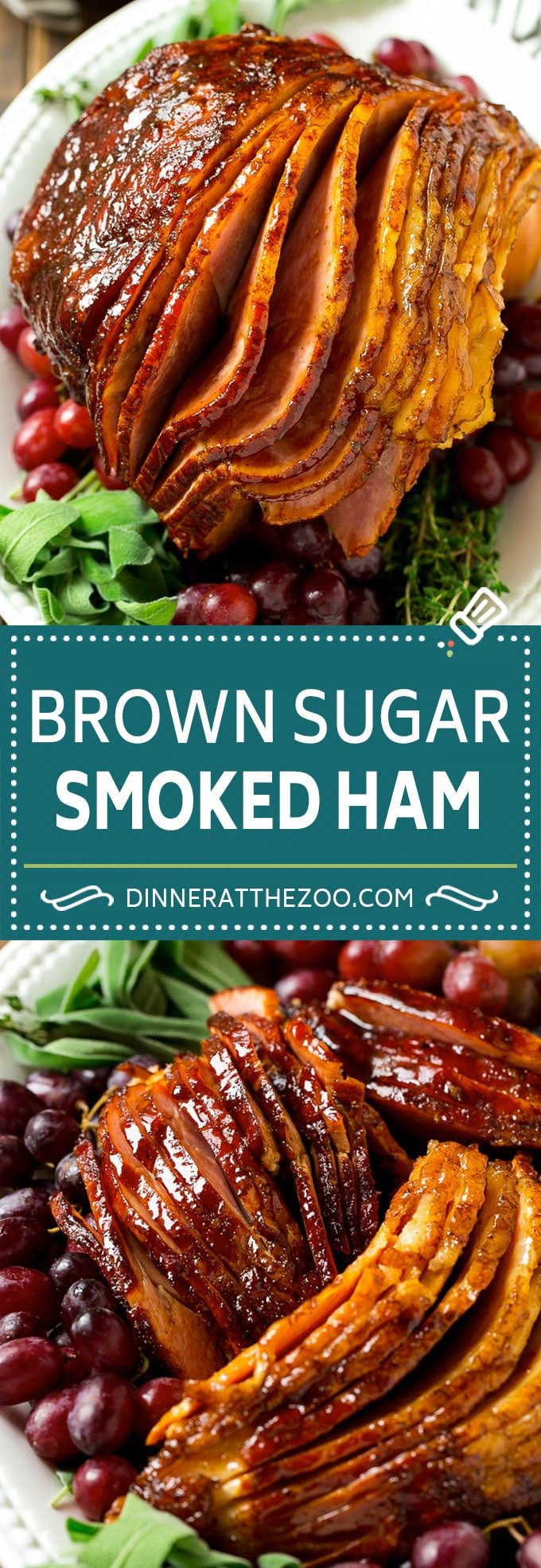 Brown Sugar Smoked Ham Recipe | Holiday Ham Recipe | Brown Sugar Glazed Ham #ham #christmas #thanksgiving #easter #smoker #dinner #brownsugar #dinneratthezoo #glutenfree