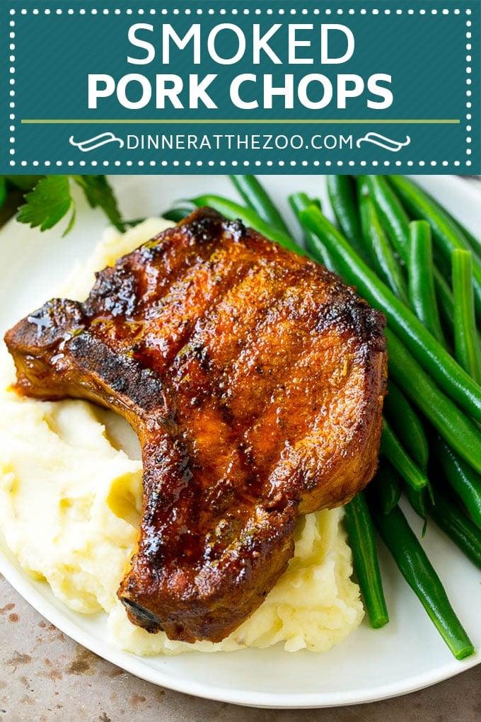 Smoked Pork Chops Recipe | Smoked Pork | Pork Chops #pork #porkchops #smoker #lowcarb #dinner #dinneratthezoo
