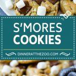 S'mores Cookies Recipe   Marshmallow Cookies #smores #marshmallow #chocolate #cookies #dessert #dinneratthezoo