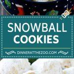 Snowball Cookies Recipe | Mexican Wedding Cookies | Russian Tea Cakes #cookies #pecan #chocolate #baking #dessert #christmas #dinneratthezoo