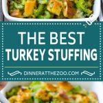 Turkey Stuffing Recipe   Thanksgiving Stuffing   Classic Stuffing #thanksgiving #stuffing #sidedish #fall #dinneratthezoo