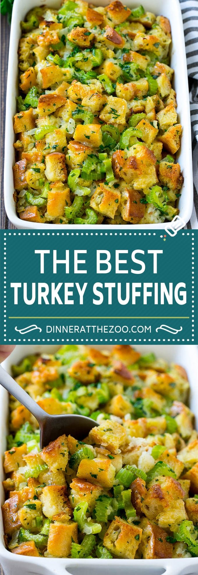 Turkey Stuffing Recipe | Thanksgiving Stuffing | Classic Stuffing #thanksgiving #stuffing #sidedish #fall #dinneratthezoo