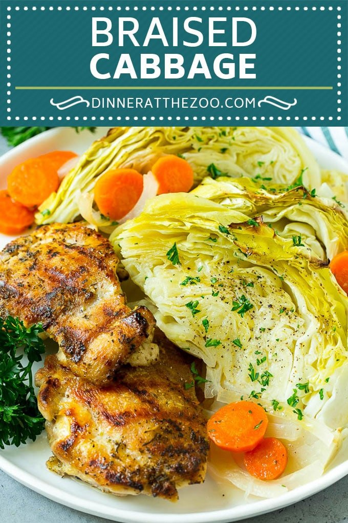 Braised Cabbage Recipe | Easy Cabbage Recipe #cabbage #lowcarb #keto #carrots #veggies #vegetarian #dinner #dinneratthezoo