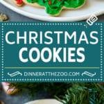 Christmas Sugar Cookies Recipe | Christmas Cookies #cookies #frosting #sprinkles #sugarcookies #christmas #dessert #dinneratthezoo