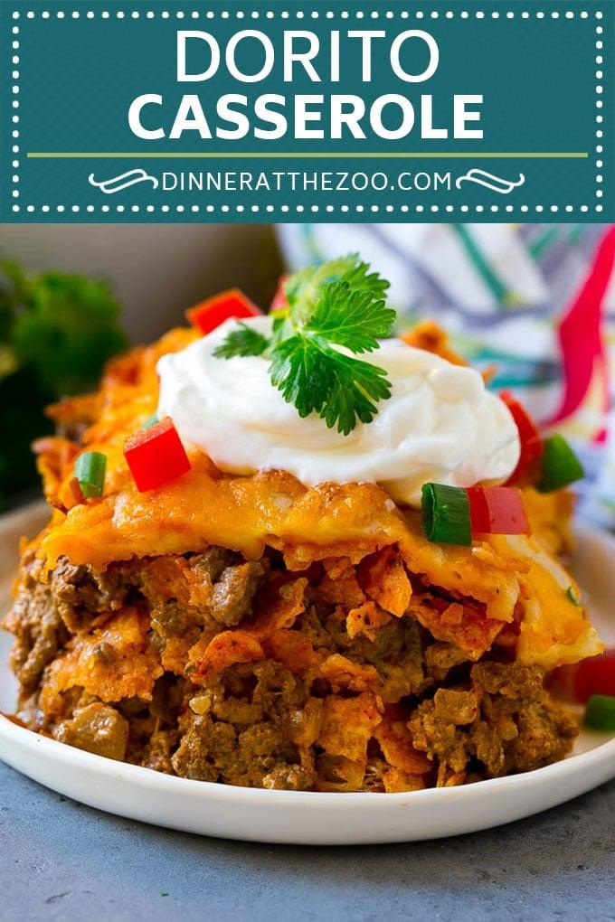 Dorito Casserole Recipe | Mexican Casserole | Beef Casserole #mexicanfood #beef #groundbeef #casserole #dinner #dinneratthezoo