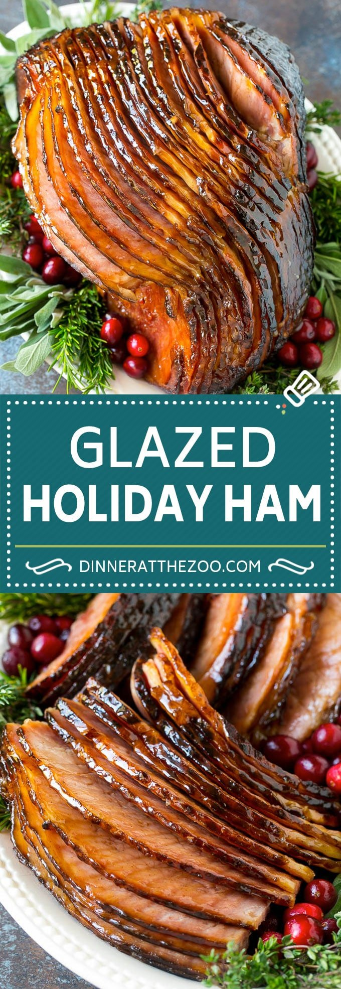 Brown Sugar Glazed Ham Recipe | Holiday Ham | Ham Glaze | Christmas Ham #christmas #thanksgiving #easter #ham #dinner #dinneratthezoo