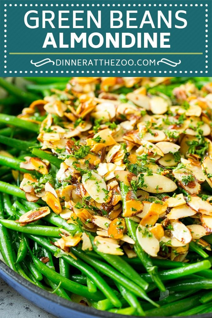 Green Beans Almondine Recipe | Green Beans with Almonds | Green Bean Recipe #greenbeans #almonds #sidedish #glutenfree #lowcarb #keto #dinner #dinneratthezoo