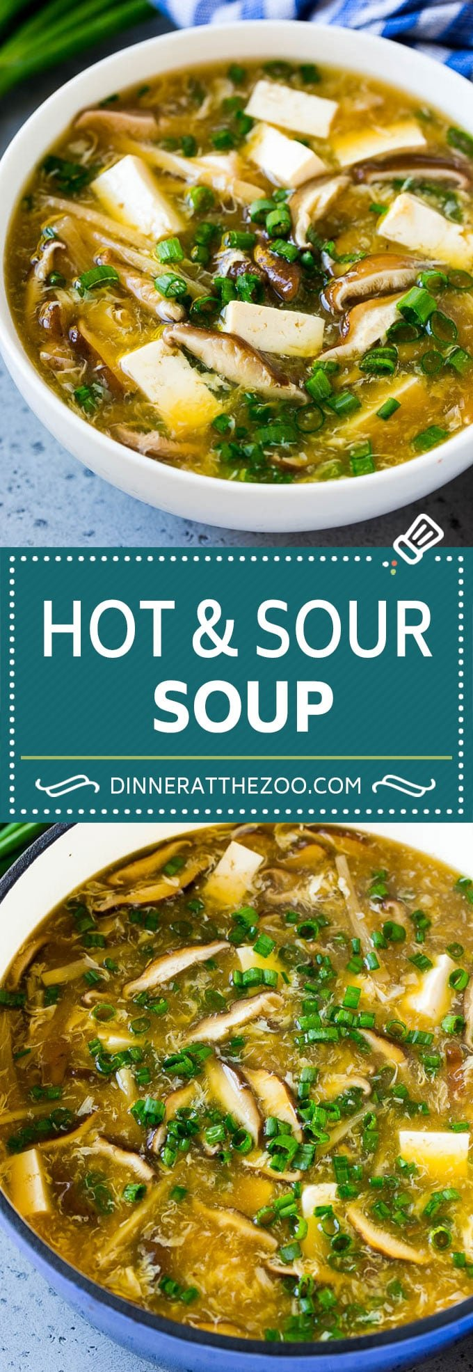 Hot and Sour Soup Recipe | Chinese Soup Recipe #soup #chinese #asian #dinner #vegetarian #tofu #mushrooms #dinneratthezoo