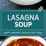 Lasagna Soup Recipe   Italian Soup   Ground Beef Soup #lasagna #pasta #soup #beef #dinner #dinneratthezoo #italian