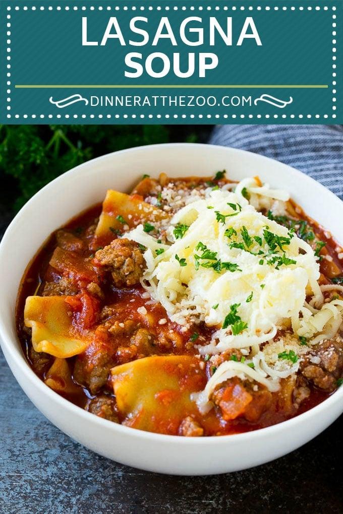 Lasagna Soup Recipe | Italian Soup | Ground Beef Soup #lasagna #pasta #soup #beef #dinner #dinneratthezoo #italian