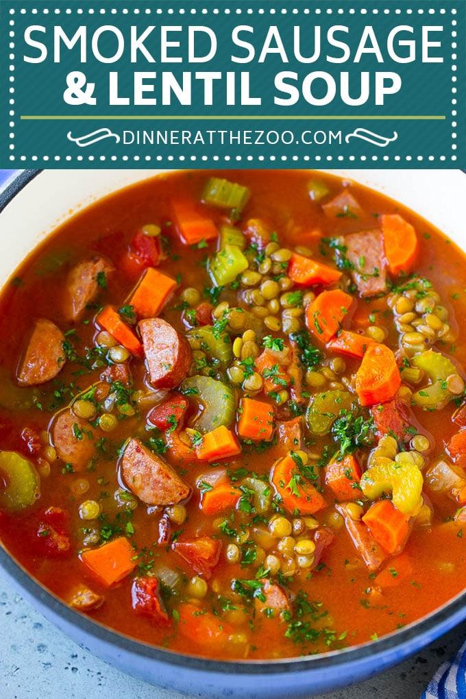 Lentil Soup Recipe | Sausage Lentil Soup #soup #lentils #sausage #dinner #glutenfree #dinneratthezoo