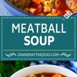 Italian Meatball Soup Recipe   Meatball Soup   Beef Meatballs #meatballs #beef #soup #italian #dinner #dinneratthezoo #comfortfood