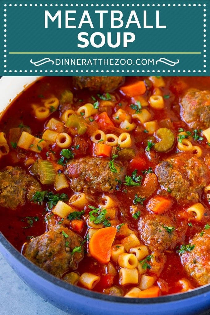 Italian Meatball Soup Recipe | Meatball Soup | Beef Meatballs #meatballs #beef #soup #italian #dinner #dinneratthezoo #comfortfood