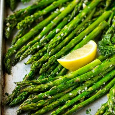 Roasted Asparagus with Garlic and Herbs