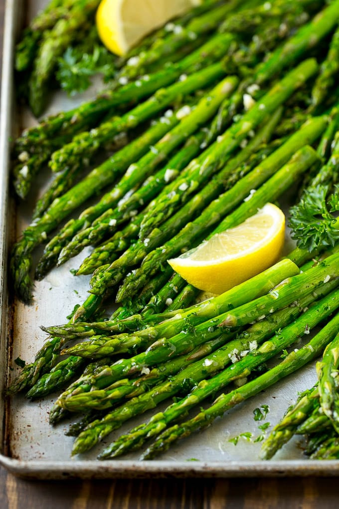 Roasted Asparagus With Garlic And Herbs Dinner At The Zoo