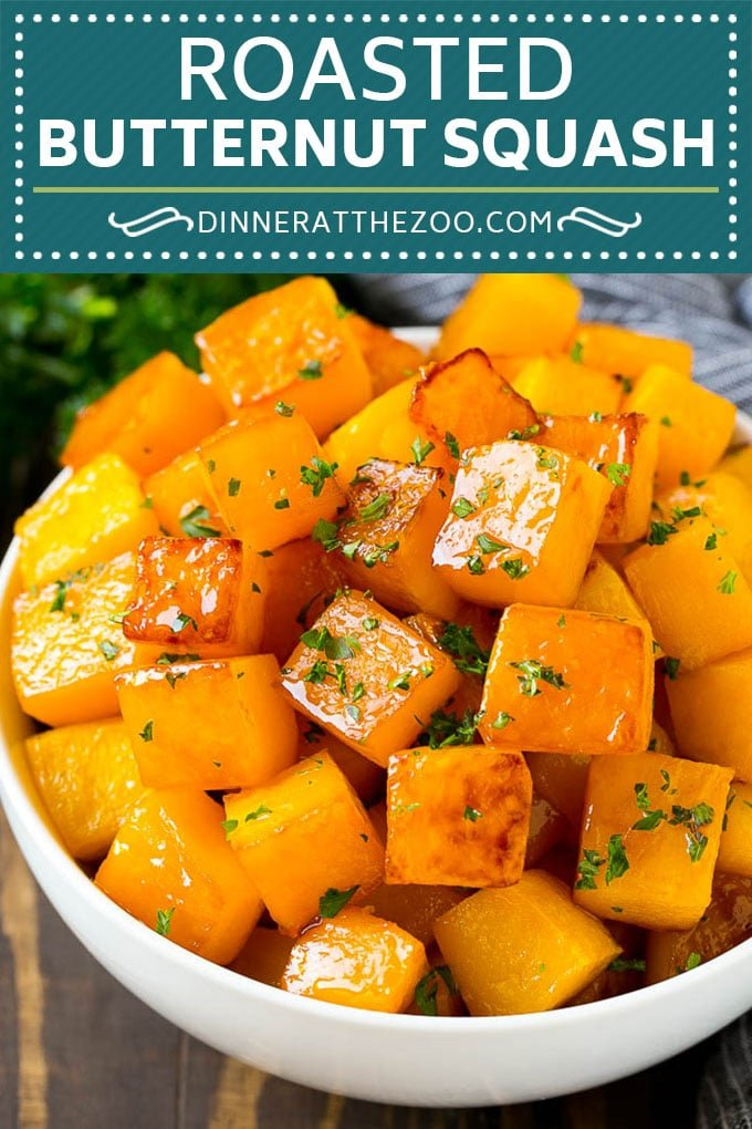 Roasted Butternut Squash Recipe | Baked Butternut Squash | Butternut Squash Side Dish #butternutsquash #squash #fall #vegetarian #dinner #dinneratthezoo
