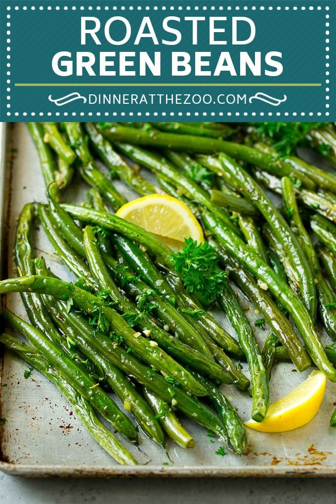Roasted Green Beans Recipe | Garlic Green Beans | Easy Green Beans #greenbeans #garlic #vegetables #vegetarian #sidedish #dinner #dinneratthezoo