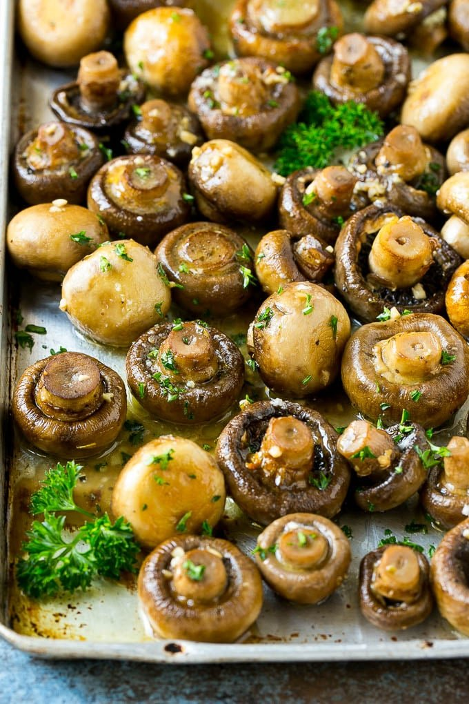 Roasted Mushrooms In Garlic Butter Dinner At The Zoo
