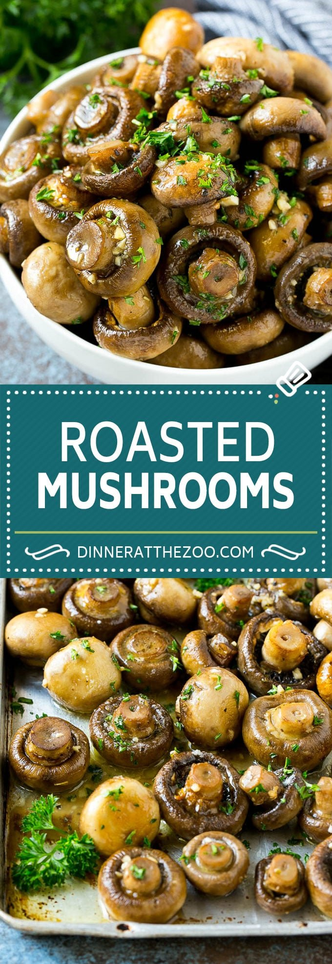 Roasted Mushrooms Recipe | Garlic Mushrooms #mushrooms #appetizer #sidedish #glutenfree #keto #lowcarb #dinner #dinneratthezoo