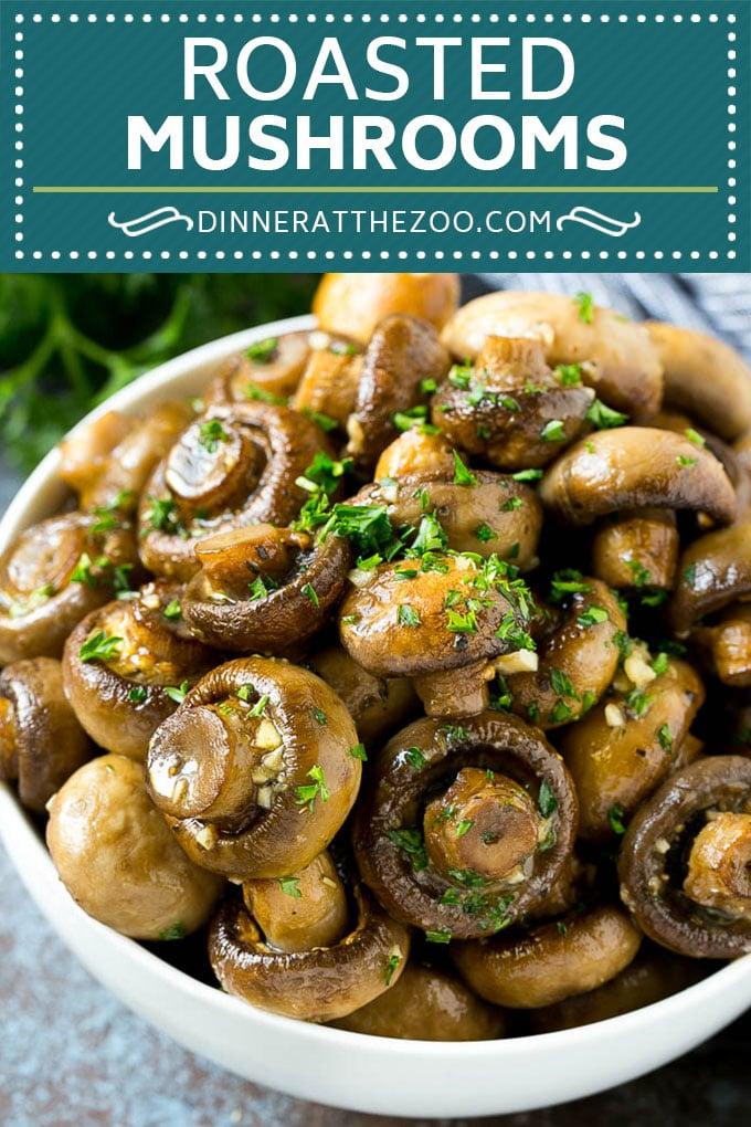 Roasted Mushrooms Recipe   Garlic Mushrooms #mushrooms #appetizer #sidedish #glutenfree #keto #lowcarb #dinner #dinneratthezoo