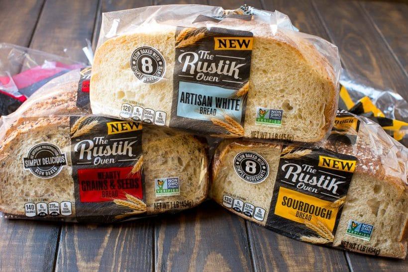 Three varieties of Rustik Oven Bread.