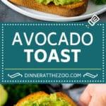 Avocado Toast Recipe #breakfast #avocado #healthy #dinneratthezoo