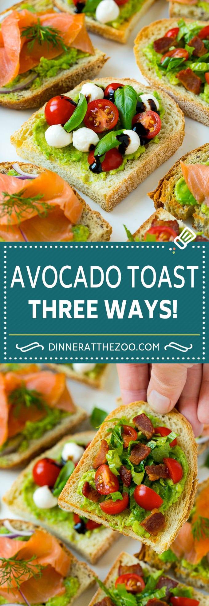 Avocado Toast Recipe | Avocado Appetizer #avocado #toast #appetizer #snack #dinneratthezoo