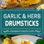 Baked Chicken Drumsticks Recipe | Roasted Chicken Drumsticks | Garlic and Herb Chicken #dinner #chicken #garlic #glutenfree #lowcarb #keto #cleaneating #dinneratthezoo