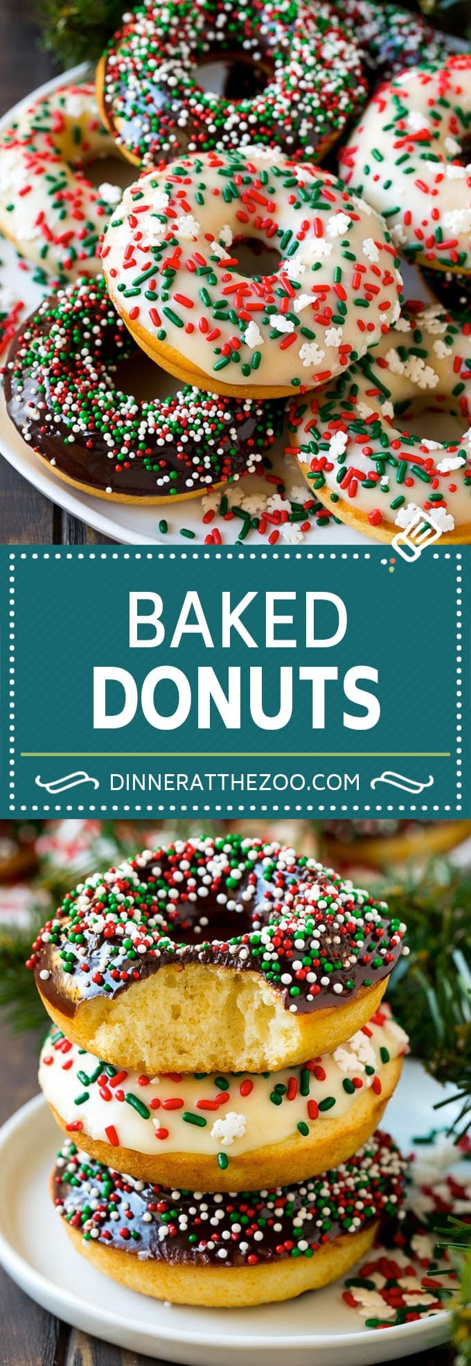 Baked Donuts Recipe | Cake Donuts | Chocolate Donuts | Sprinkle Donuts #donuts #chocolate #sprinkles #breakfast #brunch #dinneratthezoo