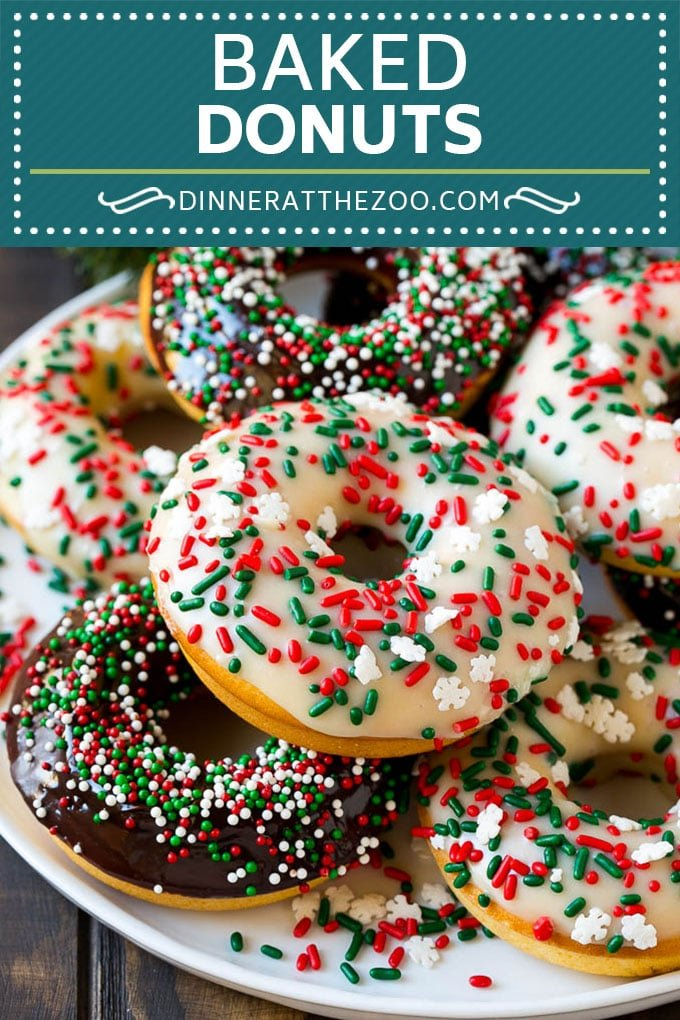 Baked Donuts Recipe   Cake Donuts   Chocolate Donuts   Sprinkle Donuts #donuts #chocolate #sprinkles #breakfast #brunch #dinneratthezoo