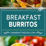 Breakfast Burrito Recipe | Sausage Breakfast Burrito #breakfast #sausage #eggs #burrito #dinneratthezoo
